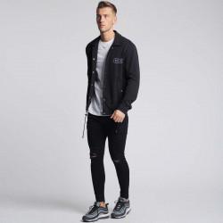 Pánska čierna košeľa s dlhým rukávom 304 Clothing Farba: Čierna, #3