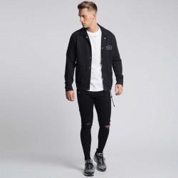 Pánska čierna košeľa s dlhým rukávom 304 Clothing Farba: Čierna, #4