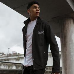 Pánska čierna košeľa s dlhým rukávom 304 Clothing Farba: Čierna, #5