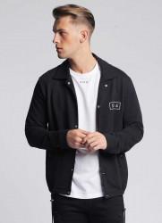 Pánska čierna košeľa s dlhým rukávom 304 Clothing