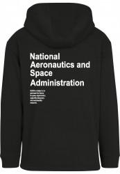Pánska čierna mikina MR.TEE NASA Definition Pull Over Hoody Farba: black, #1
