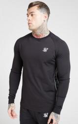 Pánska čierna mikina Sik Silk Tape Performance Sweater