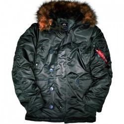 Pánska čierna zimná bunda Alpha Industries N3B