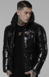 Pánska čierna zimná bunda Sik Silk