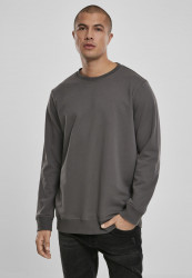 Pánska crewneck mikina URBAN CLASSICS Basic Terry Crew darkshadow