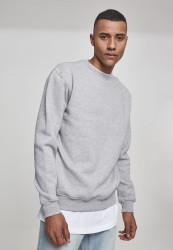 Pánska crewneck mikina URBAN CLASSICS Crewneck Sweatshirt grey