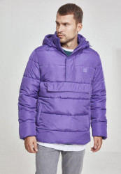 Pánska fialová zimná bunda Urban Classics Pull Over Puffer Jacket violet