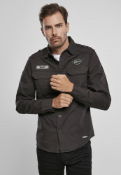 Pánska košeľa BRANDIT Luis Vintageshirt Farba: black,