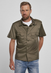 Pánska košeľa BRANDIT Short Sleeves US Shirt Farba: olive,