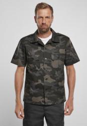 Pánska košeľa BRANDIT US Shirt Ripstop shortsleeve Farba: dark camouflage,