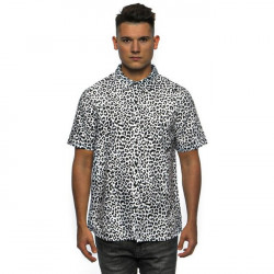Pánska košeľa Cayler & Sons WL Fresh Leopard Short Sleeve Shirt black/white Size: XL