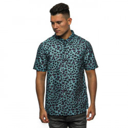 Pánska košeľa Cayler & Sons WL Fresh Leopard Short Sleeve Shirt mint/mc Size: XL