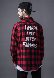 Pánska košeľa MR.TEE Famous Shirt Farba: blk/red,