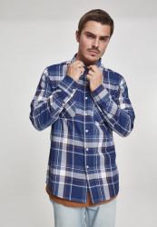 Pánska košeľa s dlhým rukávom URBAN CLASSICS Check Shirt indigo/white/red/goldenoak