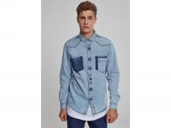 65b22d93daa2 Pánska košeľa s dlhým rukávom URBAN CLASSICS Denim