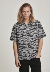 Pánska košeľa s krátkym rukávom URBAN CLASSICS Pattern Resort Shirt stone camo