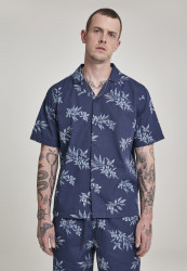 Pánska košeľa s krátkym rukávom URBAN CLASSICS Pattern Resort Shirt subtile floral