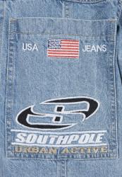 Pánska košeľa Southpole Denim Shirt Farba: mid blue, #9