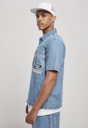 Pánska košeľa Southpole Denim Shirt Farba: mid blue, #1