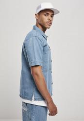 Pánska košeľa Southpole Denim Shirt Farba: mid blue, #3