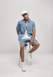 Pánska košeľa Southpole Denim Shirt Farba: mid blue, #4