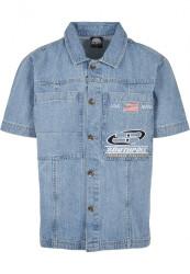 Pánska košeľa Southpole Denim Shirt Farba: mid blue, #5