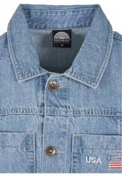Pánska košeľa Southpole Denim Shirt Farba: mid blue, #7