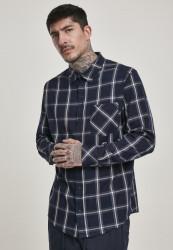 Pánska košeľa URBAN CLASSICS Basic Check Shirt navy/wht