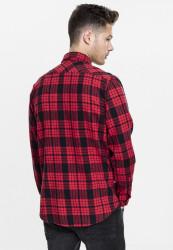Pánska košeľa URBAN CLASSICS Checked Flanell Shirt 2 redblk #2