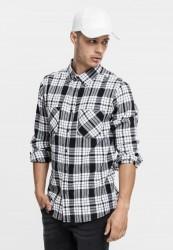 Pánska košeľa URBAN CLASSICS Checked Flanell Shirt 2 wht/blk