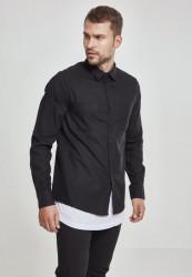 Pánska košeľa URBAN CLASSICS CHECKED FLANELL SHIRT blk/blk