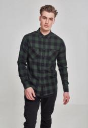 Pánska košeľa URBAN CLASSICS CHECKED FLANELL SHIRT blk/forest