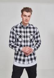 Pánska košeľa URBAN CLASSICS CHECKED FLANELL SHIRT blk/wht