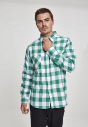 Pánska košeľa URBAN CLASSICS CHECKED FLANELL SHIRT wht/grn