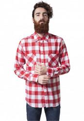 Pánska košeľa URBAN CLASSICS CHECKED FLANELL SHIRT wht/red