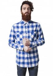 Pánska košeľa URBAN CLASSICS CHECKED FLANELL SHIRT wht/roy