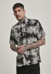 Pánska košeľa URBAN CLASSICS Frond Resort Shirt black/frond