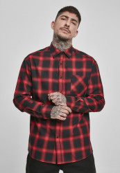 Pánska košeľa URBAN CLASSICS Oversized Checked Shirt blk/red
