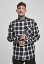 Pánska košeľa URBAN CLASSICS Oversized Checked Shirt blk/wht