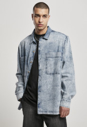 Pánska košeľa URBAN CLASSICS Oversized Denim light skyblue acid washed