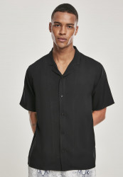 Pánska košeľa URBAN CLASSICS Viscose Resort Shirt black