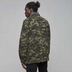 Pánska maskáčová bunda Cayler & Sons All Day Denim Army Denim Jacket woodland camo Size: L #1