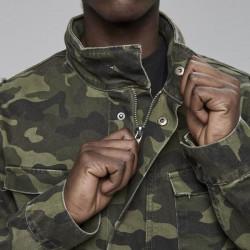 Pánska maskáčová bunda Cayler & Sons All Day Denim Army Denim Jacket woodland camo Size: L #2