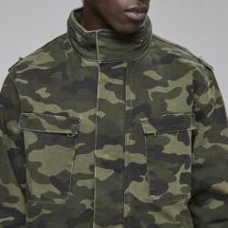Pánska maskáčová bunda Cayler & Sons All Day Denim Army Denim Jacket woodland camo Size: L #3