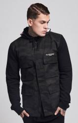 Pánska maskáčová bunda Illusive London Jersey Sleeve Jacket Farba: CAMO,Čierna,