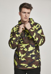 Pánska bunda URBAN CLASSICS Camo Pull Over Windbreaker frozenyellow camo