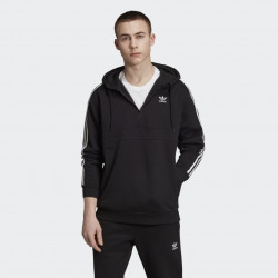 Pánska mikina Adidas Originals 3-Stripes Zip Hoodie black