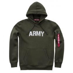 Pánska mikina Alpha Industries Army Nav Hoody Army Green #2