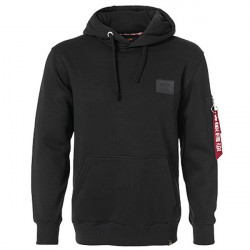 Pánska mikina Alpha Industries Back Print Hoody Black Size: XL