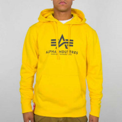 Pánska mikina Alpha Industries Basic Hoodie yellow